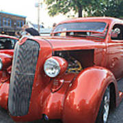 1936 Plymouth Two Door Sedan Front And Side View Poster