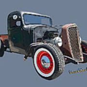 1936 Rat Rod Chevy Pickup Poster
