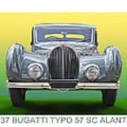 1937 Bugatti 57 S C Atalante Poster