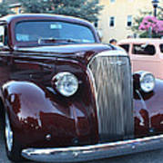 1937 Chevy Two Door Sedan Front And Side View Poster