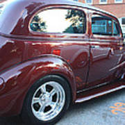 1937 Chevy Two Door Sedan Rear And Side View Poster