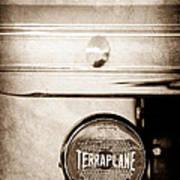 1937 Hudson Terraplane Pickup Truck Taillight Emblem Poster