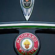 1937 Packard 1508 Twelve Convertible Sedan Emblems Poster