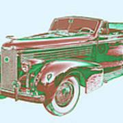 1938 Cadillac Lasalle Antique Pop Art Poster