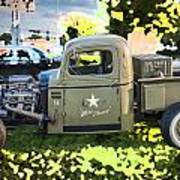 1938 Chevy Pick Up Truck Rat Rod Poster