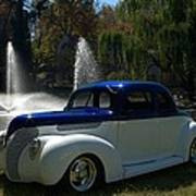 1938 Ford Coupe Hot Rod Poster