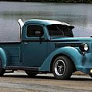 1938 Ford Pickup Truck Hot Rod Poster