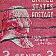 1938 John Adams Stamp Poster