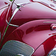 1938 Lincoln-zephyr Convertible Coupe Grille - Hood Ornament - Emblem Poster