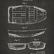 1938 Rowboat Patent Artwork - Gray Poster by Nikki Marie Smith