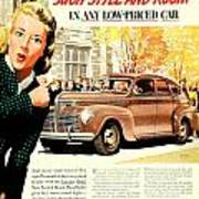 1939 - Plymouth Automobile Advertisement - Color Poster