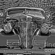 1939 Chevy Immenent Front Bw Art Poster