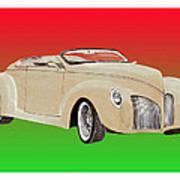 1939 Lincoln Zephyr Speedster Poster by Jack Pumphrey