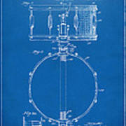1939 Snare Drum Patent Blueprint Poster