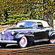 1940 Cadillac Coupe Convertible Poster