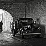1940 Chevrolet Pickup Truck In Alcatraz Prison Poster by RicardMN Photography