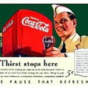 1940 - Coca-cola Advertisement - Color Poster