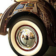 Classic Maroon 1940 Ford Rear Fender And Wheel   Poster