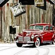 1940 Hudson And Barn Poster