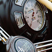 1938 Lincoln-zephyr Continental Cabriolet Steering Wheel Emblem -1817c Poster