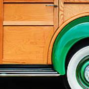 1940 Packard 120 Woody Station Wagon Wheel Emblem Poster