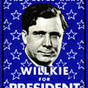 1940 Willkie For President Poster