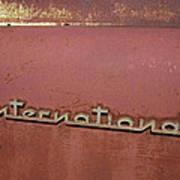 1940s Era International Harvester Truck Insignia Poster