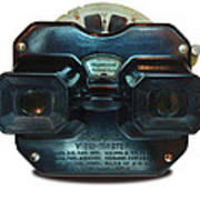 1940's View Master Stereoscopic Viewer Poster