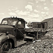 1941 Chevy Truck In Sepia Poster