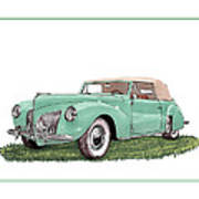 1941 Lincoln V-12 Continental Poster