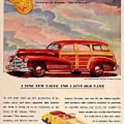 1946 - Pontiac Woodie Station Wagon And Convertible Advertisement - Color Poster