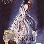 1946 Advertisement Molinard Orval Perfume Poster