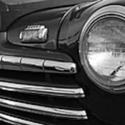 1946 Ford Deluxe 2 Door Sedan Head Light Poster
