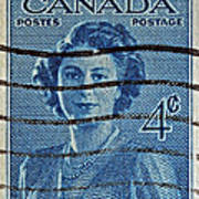 1947 Canada Four Cents Stamp Poster