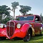 1947 Delahaye 135m Pennock Cabriot II Poster