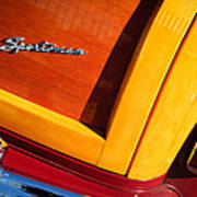 1947 Ford Super Deluxe Sportsman Convertible Taillight Emblem Poster
