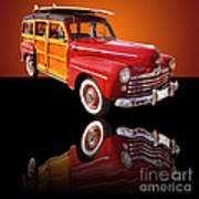 1947 Ford Woody Poster by Jim Carrell