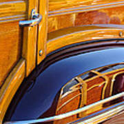 1947 Mercury Woody Reflecting Into 1947 Ford Woody Poster