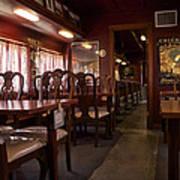 1947 Pullman Railroad Car Dining Room Poster