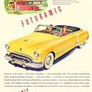 1948 - Oldsmobile Convertible Automobile Advertisement - Color Poster