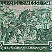 1948 Allied Occupation German Stamp Poster