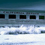 1948 California Zephyr Silver Palm Near Infrared Blue Poster