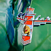 1948 Chrysler Town And Country Convertible Emblem -0974c Poster