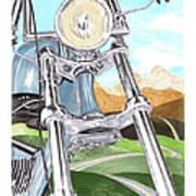 1948 Harley Davidson W L A Poster