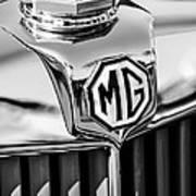 1948 Mg Tc Hood Ornament -767bw Poster