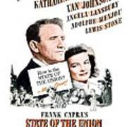1948 - State Of The Union Motion Picture Poster - Spencer Tracy - Katherine Hepburn - Mgm - Color Poster