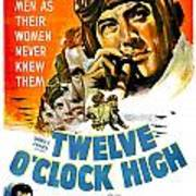1949 - Twelve O Clock High Movie Poster - Gregory Peck - Dean Jagger - 20th Century Pictures - Color Poster