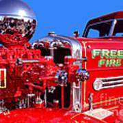 1949 Ahrens Fox Piston Pumper Fire Truck Poster