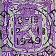 1949 Belgium Stamp - Brussels Cancelled Poster