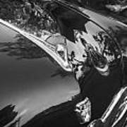 1949 Ford 2 Door Custom Painted Bw    Poster